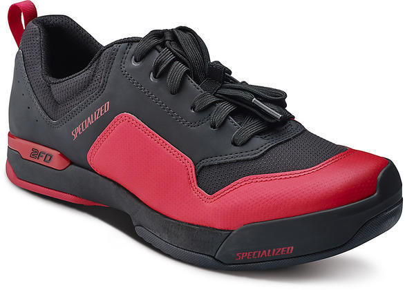 Specialized 2FO ClipLite Lace Mountain Bike Shoes Color: Red/Black