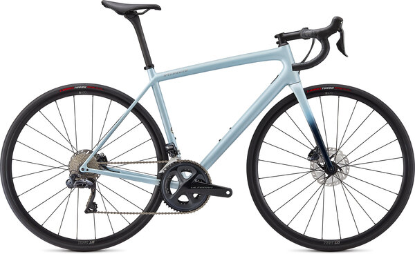 Specialized Aethos Expert Color: Gloss Ice Blue/Teal Tint/Flake Silver