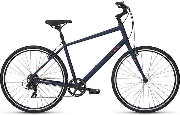 Specialized Alibi C Color: Satin Cast Blue/Rocket Red Reflective