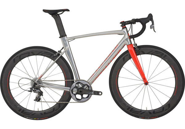 Specialized Edition Allez Sprint X1 Color: Polished Silver Ano/Rocket Red