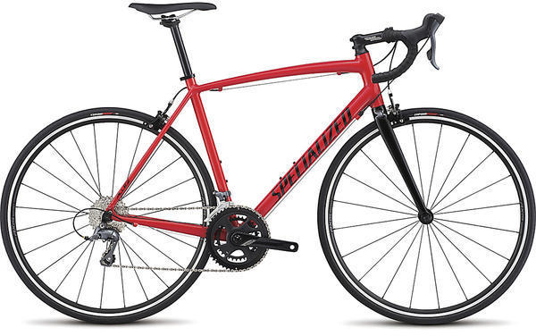 Specialized Allez E5 Color: Gloss Red/Tarmac Black