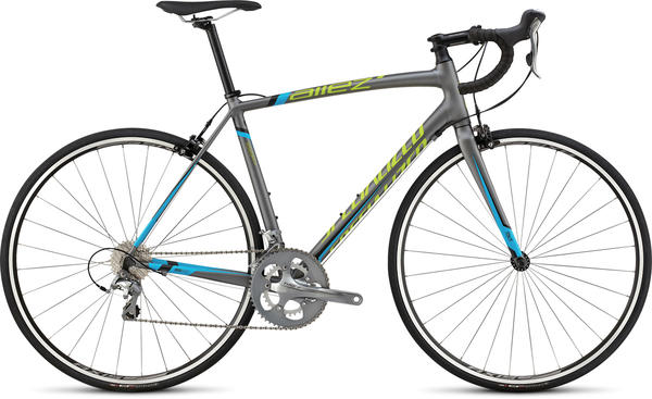 Specialized Allez Elite Color: Satin Charcoal/Cyan/Hyper Green