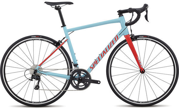 Specialized Allez Elite Color: Gloss Light Blue/Rocket Red