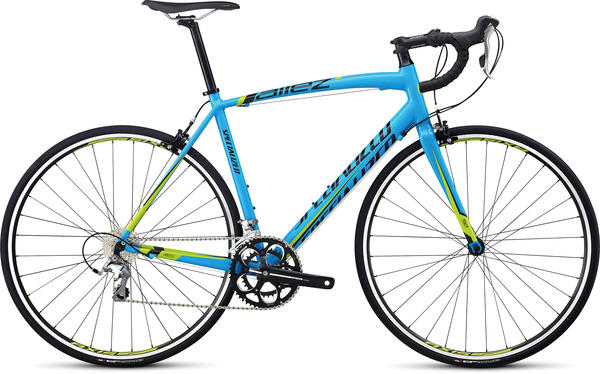 Specialized Allez Elite Color: Cyan/Hyper Green/Black