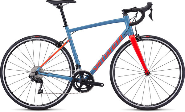 Specialized Allez Elite Color: Gloss Storm Gray/Rocket Red