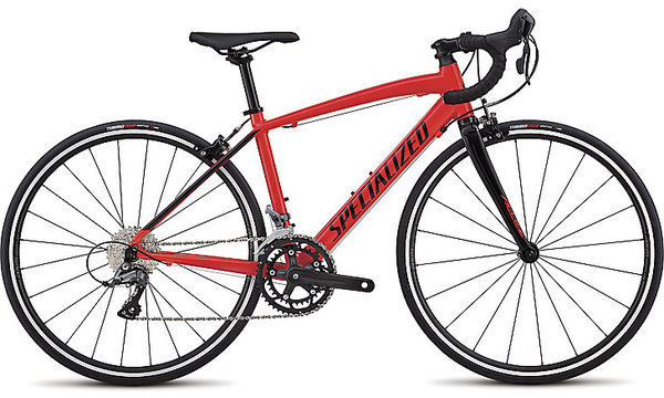 Specialized Allez Jr. Color: Gloss Rocket Red/Tarmac Black
