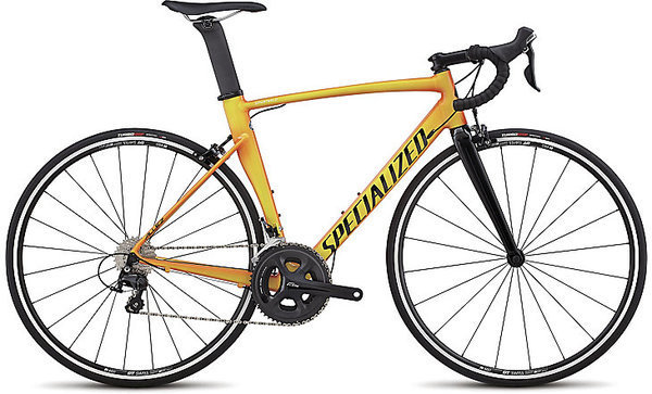 Specialized Allez Sprint Comp Color: Gloss Moto Orange/Team Yellow Edge Fade/Tarmac Blk