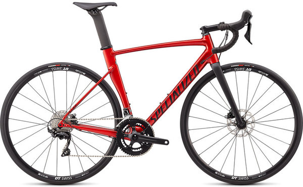 Specialized Allez Sprint Comp Disc Color: Gloss/Satin Brushed Aluminum w/Red Candy/Black