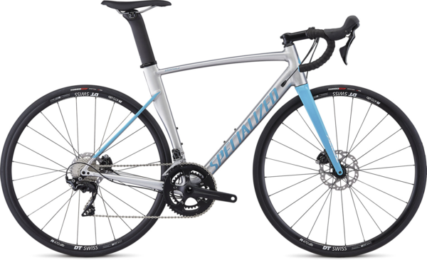 Specialized Allez Sprint Comp Disc Color: Gloss Brushed/Nice Blue