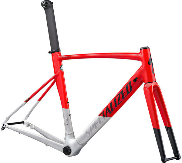 Specialized Allez Sprint Disc Frameset Color: Gloss/Satin Flo Red/Brushed/Black
