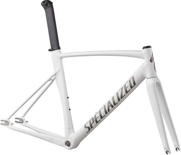 Specialized Allez Sprint Track Frameset Color: Gloss Prismatic White/Blaak Rainbow/Clean