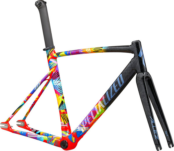 Specialized Allez Sprint Track Frameset Color: Gloss Tarmac Black/Rocket Red