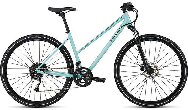 Specialized Ariel Sport Step Through - Women's Color: Gloss Lt Turquoise/Turquoise/Tarmac Black