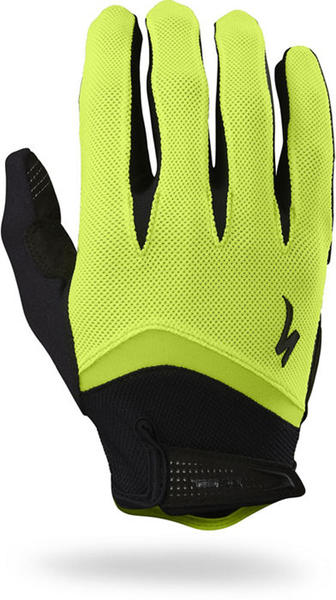 Specialized BG Gel Long-Finger Gloves Color: Black /Neon Yellow