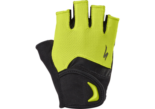 Specialized Body Geometry Kids Gloves Color: Hyper Green