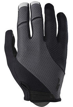 Specialized Body Geometry Gel Long Finger Gloves Color: Black/Carbon Grey