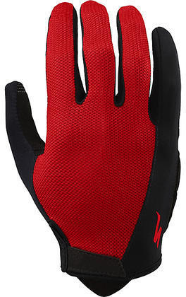 Specialized Body Geometry Sport Long Finger Gloves Color: Red
