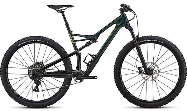Specialized Men's Camber Comp Carbon 29 - 1x Color: Gloss Cavendish Green/Hyper Green Clean