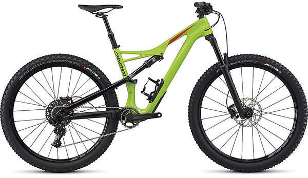Specialized Camber Comp Carbon 650b Color: Monster Green/Nordic Red