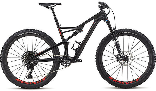 Specialized Men's Camber Expert 27.5 Color: Gloss Carbon/Red Flake Tint Carbon/Rocket Red