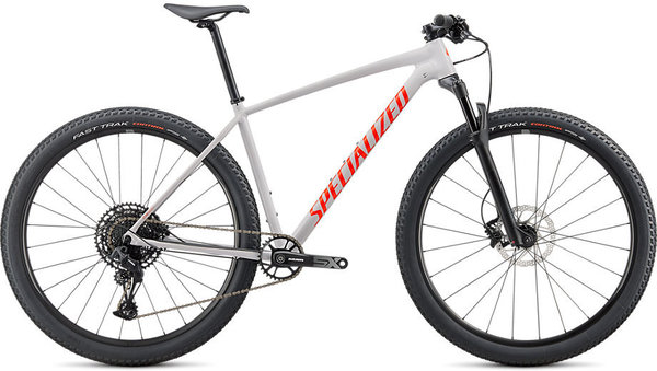 Specialized Chisel Comp 29 Color: Gloss Dove Grey/Rocket Red/Crimson