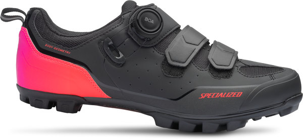 Specialized Comp Mountain Bike Shoes Color: Black/Acid Lava