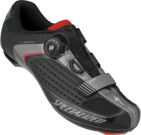 Specialized Comp Road Shoes Color: Black/Red