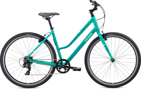 Specialized Crossroads 1.0 Step-Through Color: Acid Mint/Black