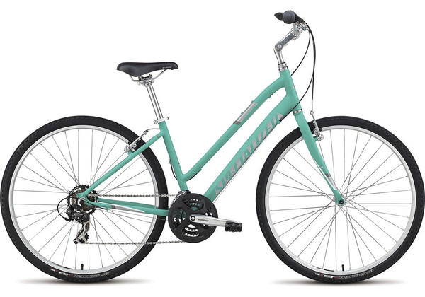 Specialized Crossroads Step-Through - Women's Color: Satin Emerald Green/Silver/White