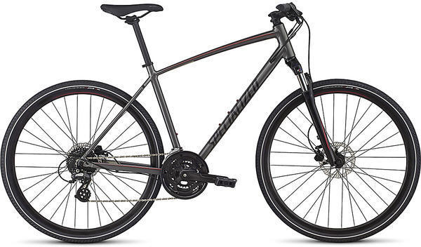 Specialized Crosstrail Disc Color: Charcoal/Candy Red/Titanium Reflective