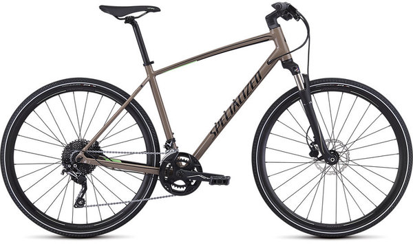Specialized CrossTrail Elite Color: Gloss Taupe/Acid Kiwi/Black Reflective