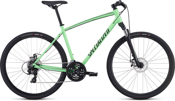 Specialized CrossTrail - Mechanical Disc Color: Gloss Acid Kiwi/Black/Black Reflective