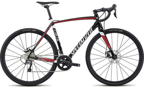 Specialized CruX E5 Color: Tarmac Black/Flo Red/Metallic White