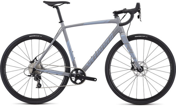Specialized Crux E5 Sport Color: Gloss Cool Grey/Blue Ghost Pearl