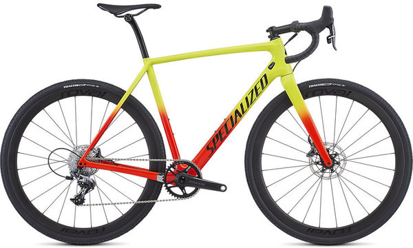 Specialized Crux Expert Color: Gloss Team Yellow/Rocket Red/Tarmac Black/Clean