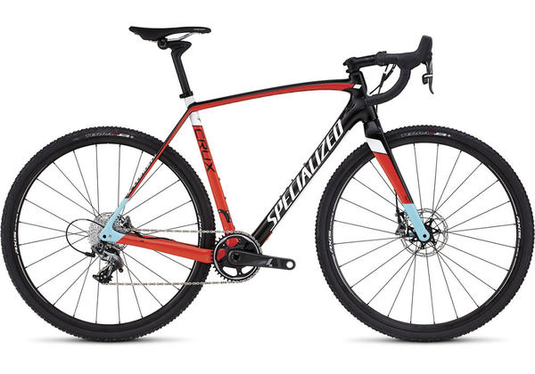 Specialized CruX Expert X1 Color: Gloss Carbon/Rocket Red/White/Light Blue