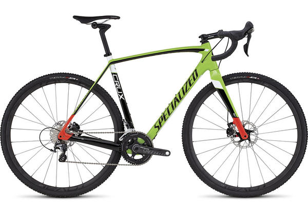 Specialized CruX Pro Race Color: Gloss Monster Green/Rocket Red/Tarmac Black/White