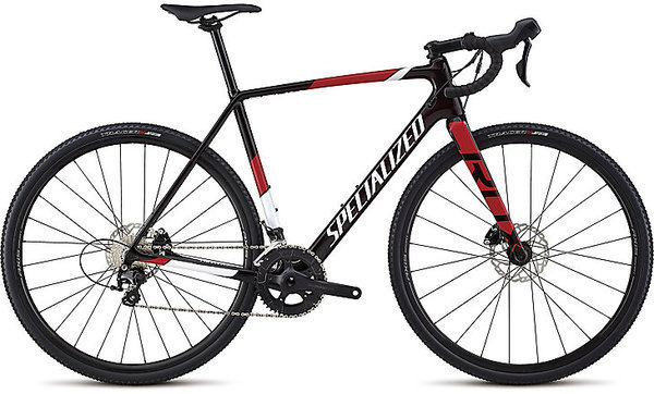Specialized CruX Sport Color: Gloss Red Tint/Metallic White Silver/Flo Red