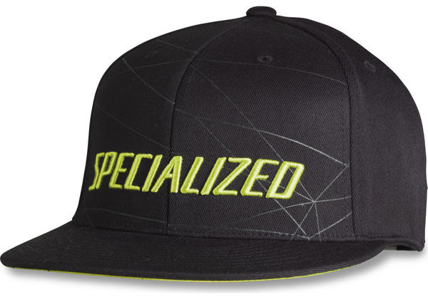 Specialized Podium Hat - Premium Fit Color: Black/Hyper Green