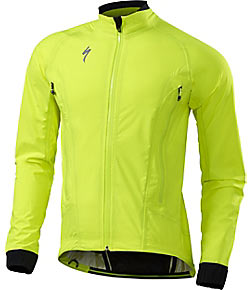 Specialized Deflect H2O Road Jacket Color: Neon Yellow