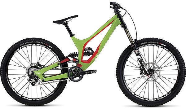 Specialized Demo 8 I Color: Gloss Monster Green/Rocket Red/White