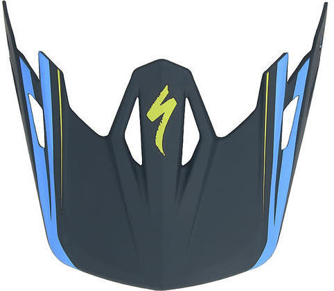 Specialized Dissident Comp Visor Color: Navy/Neon Blue Signal