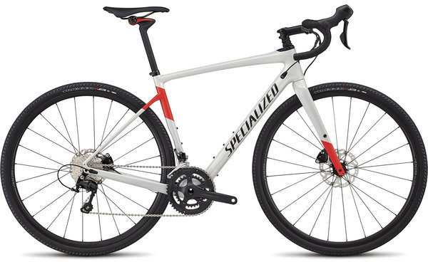 Specialized Men's Diverge Comp Color: Gloss Dirty White/Rocket Red/Tarmac Black