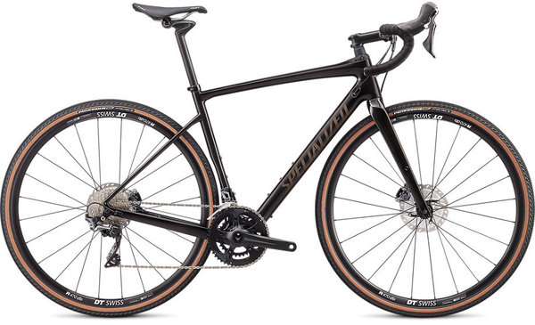 Specialized Diverge Comp Carbon Color: Gloss Carbon/Gunmetal Reflective Clean
