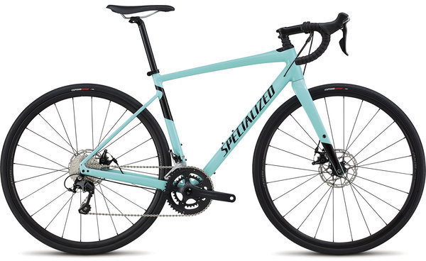 Specialized Men's Diverge Comp E5 Color: Gloss Light Turquoise/Tarmac Black