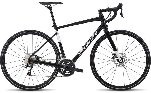Specialized Men's Diverge E5 Elite Color: Gloss Tarmac Black/Metallic White Silver
