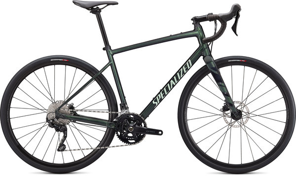 Specialized Diverge Elite E5 Color: Gloss Oak Metallic Green/Spruce