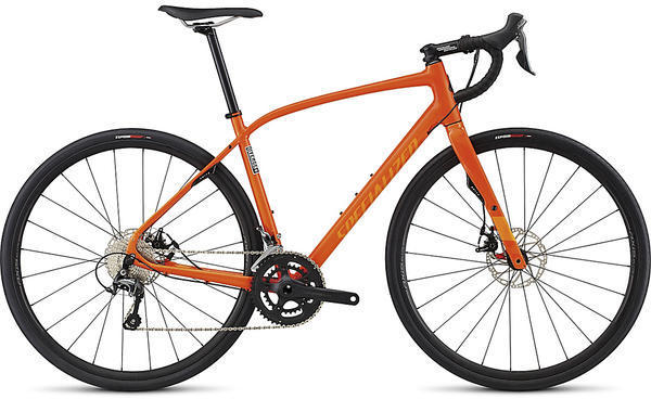 Specialized Diverge Elite DSW Color: Gloss Moto Orange/Gallardo Orange