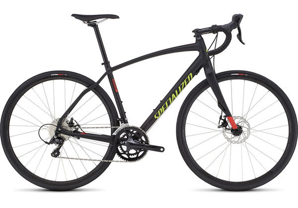 Specialized Diverge Sport A1 Color: Satin Black/Rocket Red