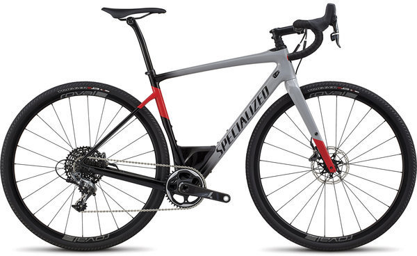 Specialized Men's Diverge Expert Color: Gloss Cool Grey/Black/Flo Red